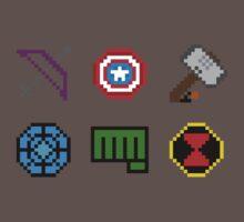 large 8 bit avengers symbols by FuzzyJuzzy