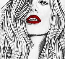 Girl with the Red Lips by Paul  Nelson-Esch