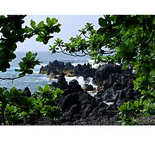 Lava beach in Paradise Photographic Print