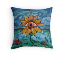 Eyeflower Throw Pillow