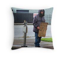 Poet on a Corner  Throw Pillow