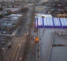 A street with vehicles in San Jose at dusk by ashishagarwal74