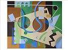 Abstract Green, Brown and Blue 1 by nancy salamouny