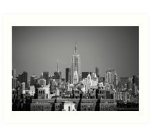Empire State Building from Brooklyn Bridge Art Print
