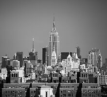 Empire State Building from Brooklyn Bridge by John Hall