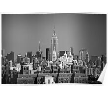 Empire State Building from Brooklyn Bridge Poster