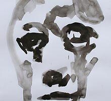 Ink Brush Portrait 1 by Josh Bowe