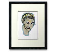 crown braid  Framed Print
