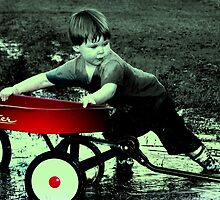 a boy and his wagon by rhyanemery