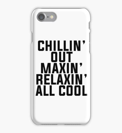 Fresh Prince of Bel-Air lyrics iPhone Case/Skin