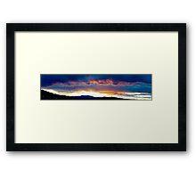Autumn Panorama at Sunset Framed Print
