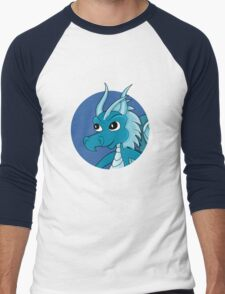 Cute blue dragon cartoon Men's Baseball ¾ T-Shirt