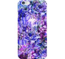 Pink, Purple, and Blue Watercolor Roses iPhone Case/Skin