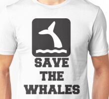 Save The Whales, Icon, Quote Unisex T-Shirt