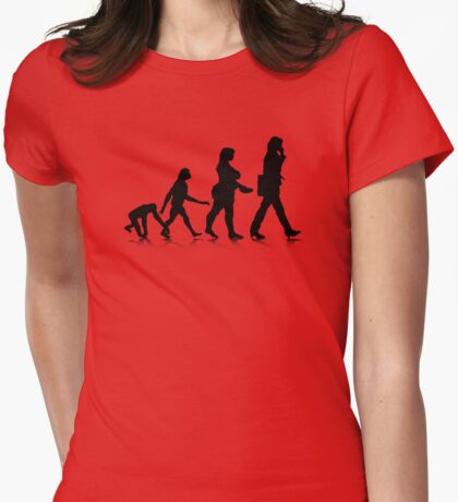 Human Evolution 7 Womens Fitted T-Shirt