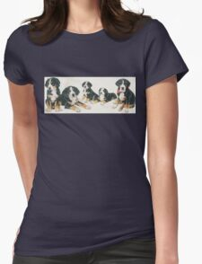 Greater Swiss Mountain Dog Puppies Womens Fitted T-Shirt