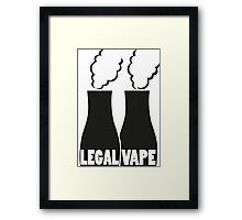 Legal Vape? Framed Print