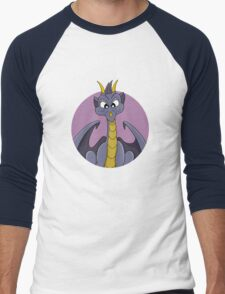 Cute purple dragon cartoon Men's Baseball ¾ T-Shirt