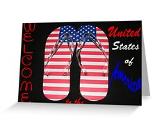 WELCOME TO U.S.A. Greeting Card