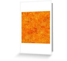 Orange Popsicle Oil Painting Color Accent Greeting Card