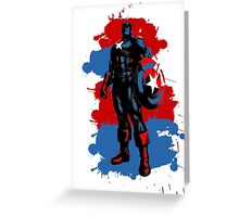 Captain America Paint Splatter Greeting Card