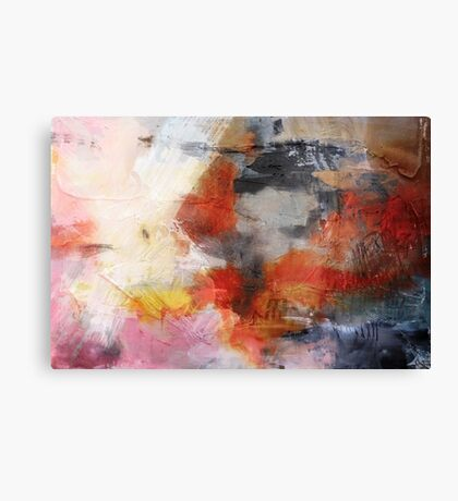 Red Orange Abstract Original Painting on Print  Canvas Print