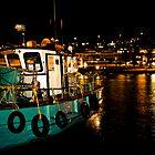Kalk Bay at Night by Tim Cowley