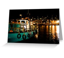 Kalk Bay at Night Greeting Card