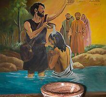 Baptismal Font In San Fernando - Ecuador by Al Bourassa