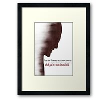The Master - Buffy Framed Print