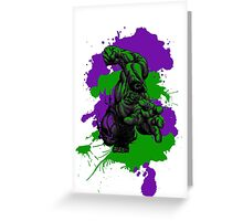 The Incredible Hulk Paint Splatter Greeting Card