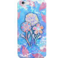 Whimsical Watercolor Leaves and Flowers  iPhone Case/Skin