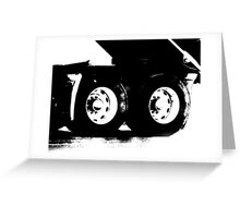 Trucks - Detail of Rear Axels & Tires in High Contrast B&W Greeting Card