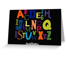 Alphabet Greeting Card