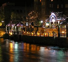 Truckee River Lights  by Jon  Johnson