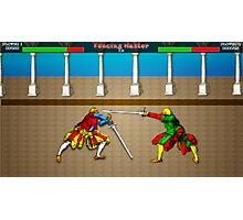 Fencing Master 16 bit HEMA tribute Photographic Print