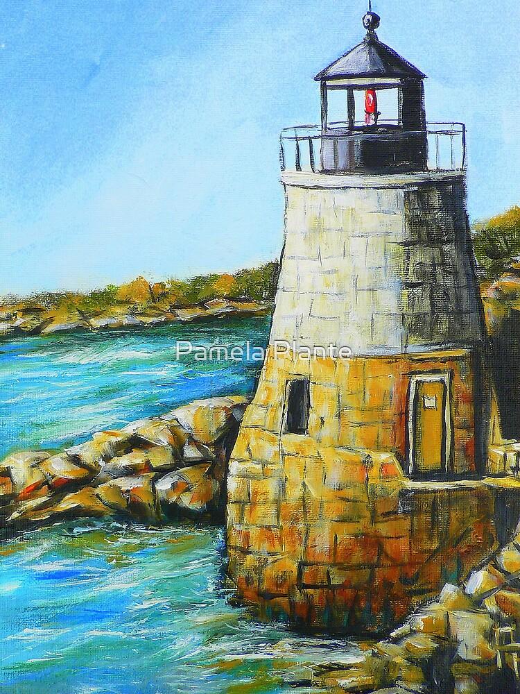 Castle Hill Lighthouse in Newport, RI by Pamela Plante