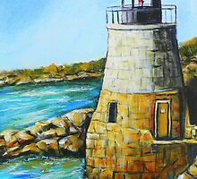 Castle Hill Lighthouse in Newport, RI by Pamela Plante