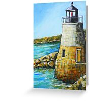 Castle Hill Lighthouse in Newport, RI Greeting Card