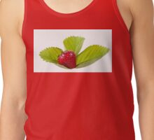 strawberry fruit lying on leaf Tank Top