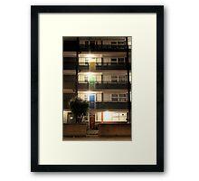 Coloured Doors Framed Print