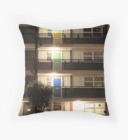 Coloured Doors Throw Pillow