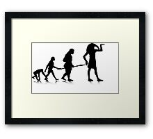Human Evolution 12 Framed Print