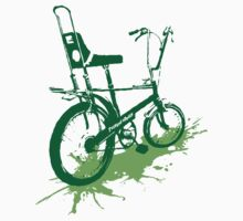 twisted wheels: chopper splash green Kids Tee