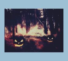 Pumpkins in the Night Forest Baby Tee