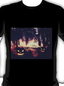Pumpkins in the Night Forest T-Shirt