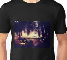 Pumpkins in the Night Forest Unisex T-Shirt