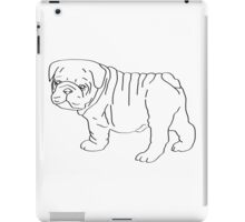 poorly drawn bulldog - tablet cases & skins iPad Case/Skin