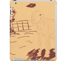 Rural Landscape with a Sheep 3 iPad Case/Skin