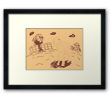 Rural Landscape with a Sheep 3 Framed Print